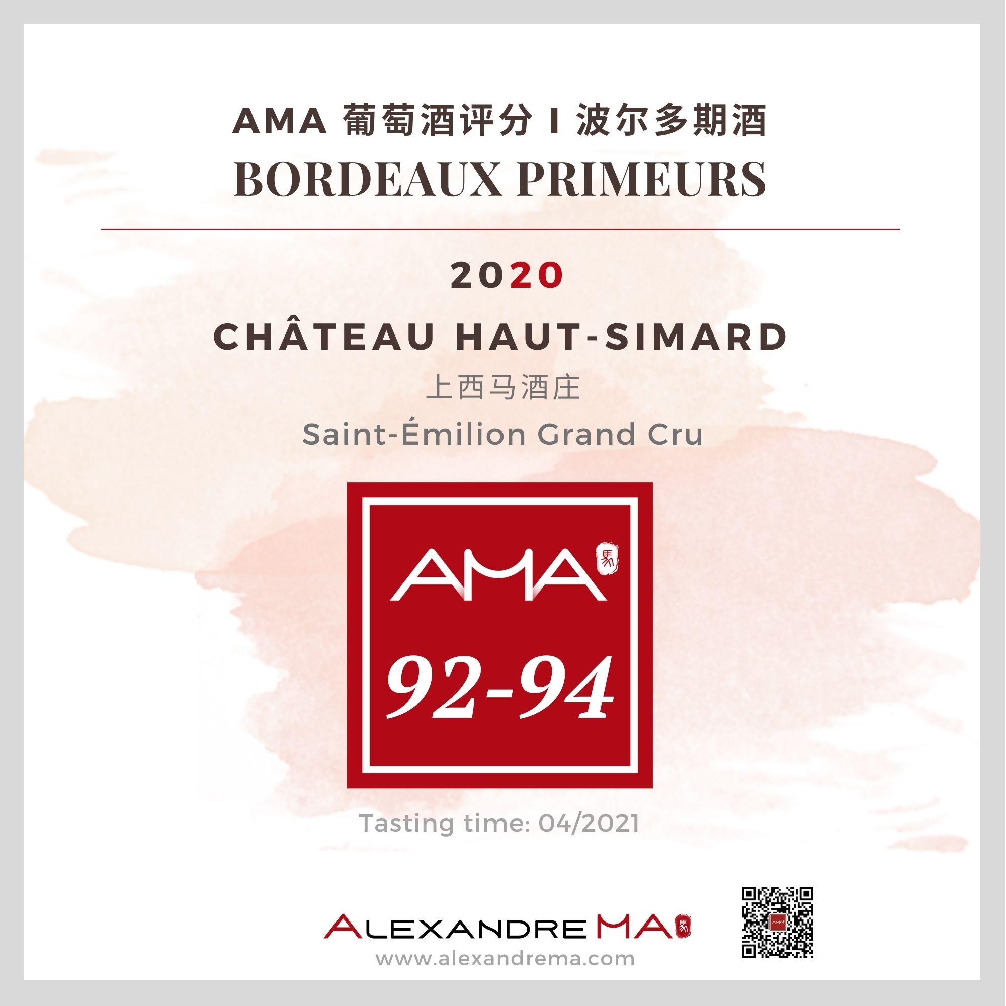 Château Haut-Simard – Red – 2020 – CN - Alexandre Ma