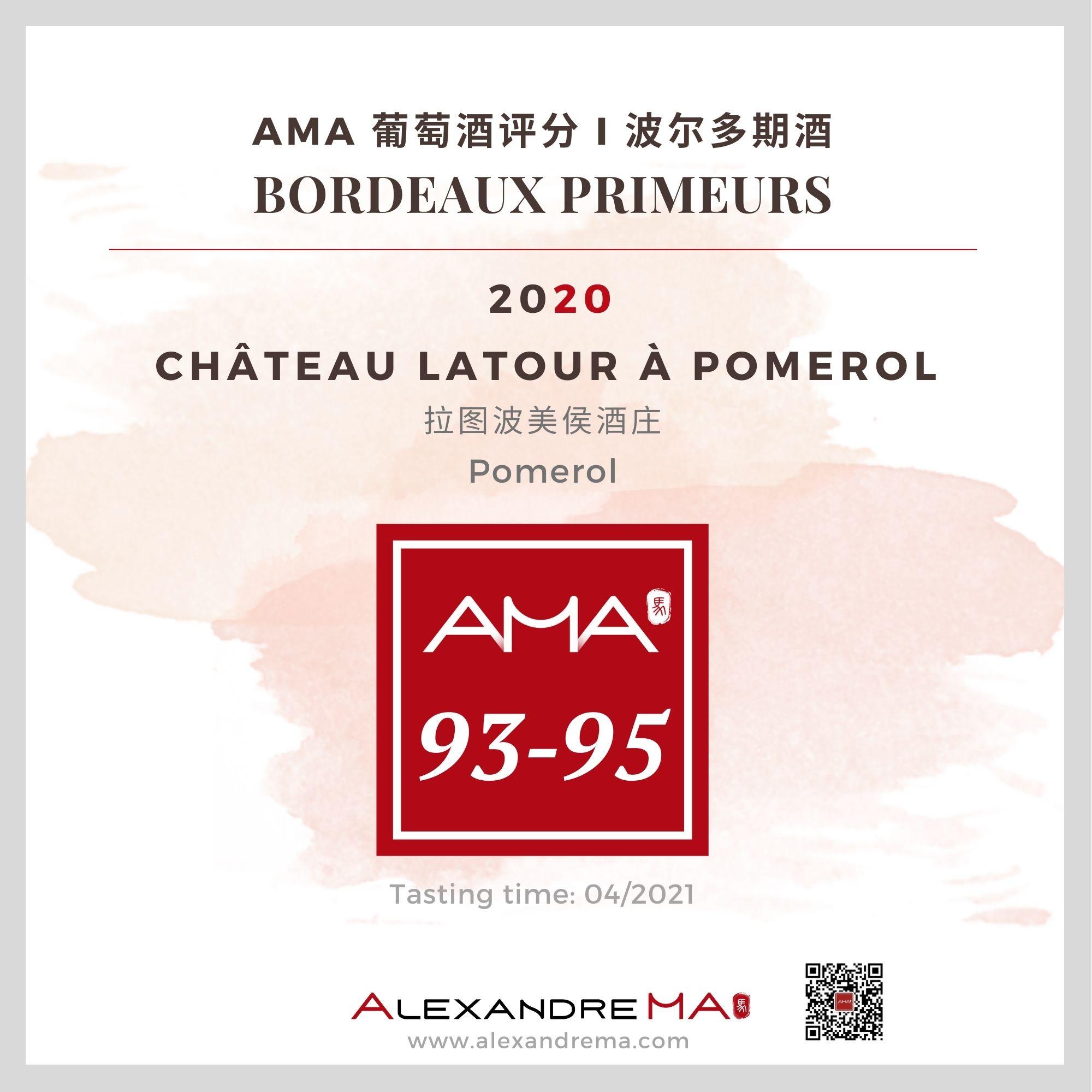Château Latour à Pomerol – Red – 2020 – CN - Alexandre Ma