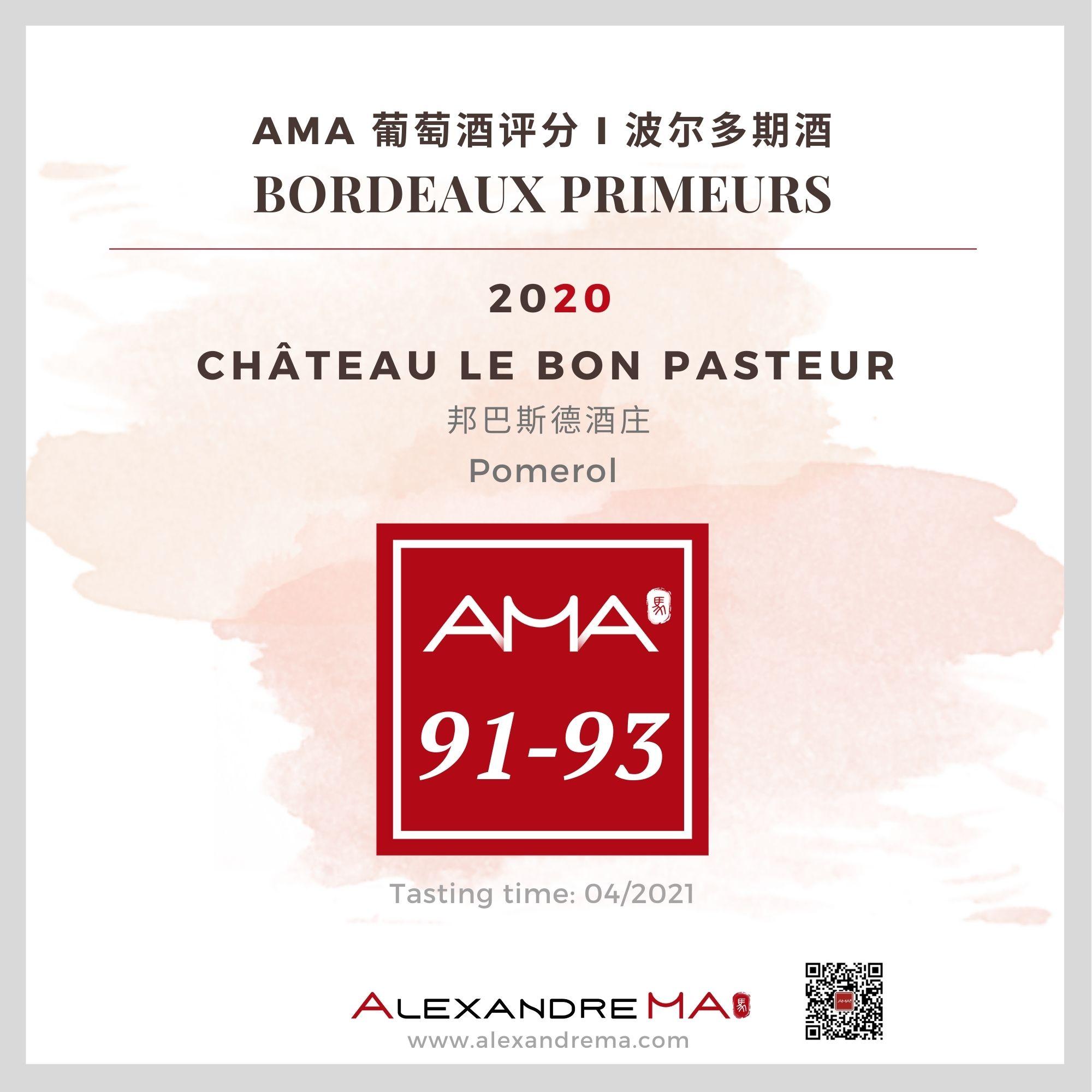 Château Le Bon Pasteur – Red – 2020 – CN - Alexandre Ma