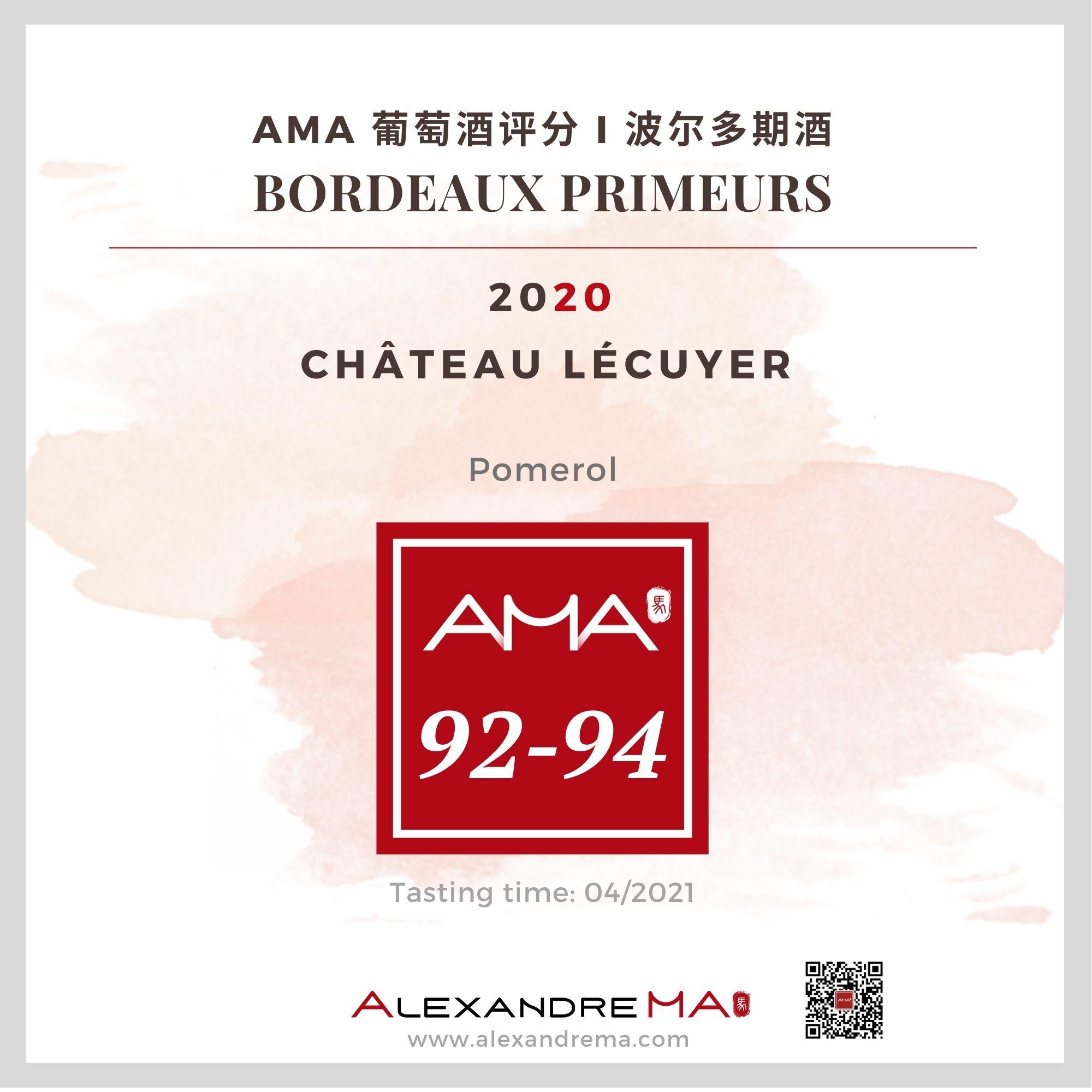 Château Lécuyer – Red – 2020 – CN - Alexandre Ma