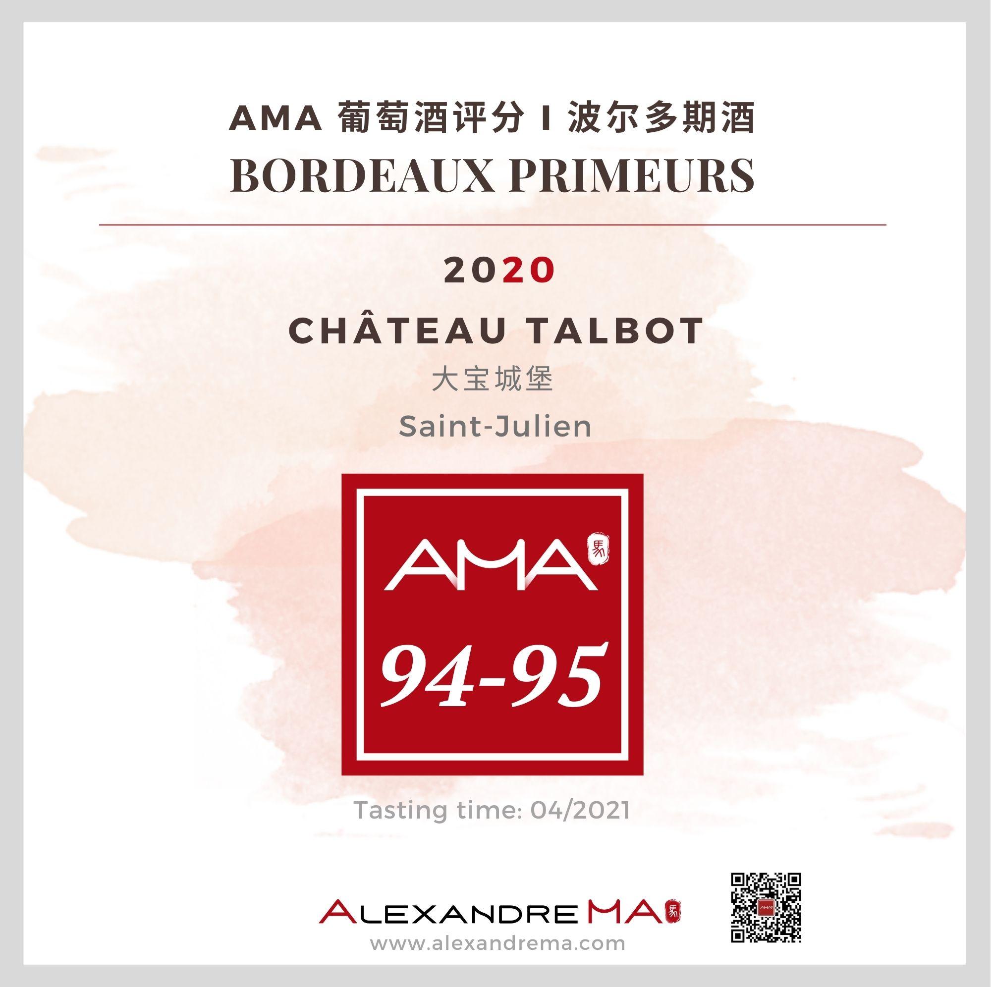 Château Talbot 2020 - Alexandre MA