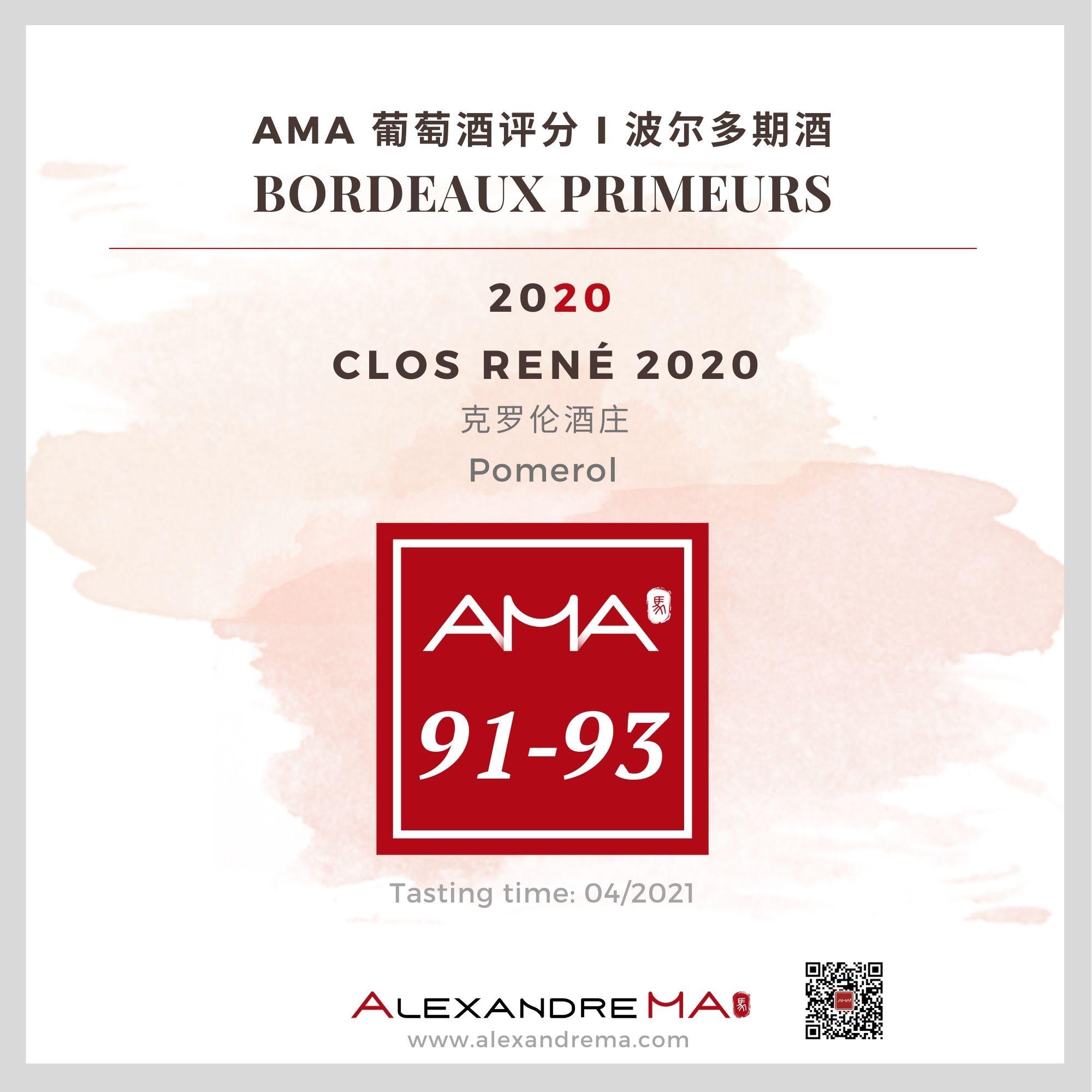 Clos René – Red – 2020 - Alexandre MA