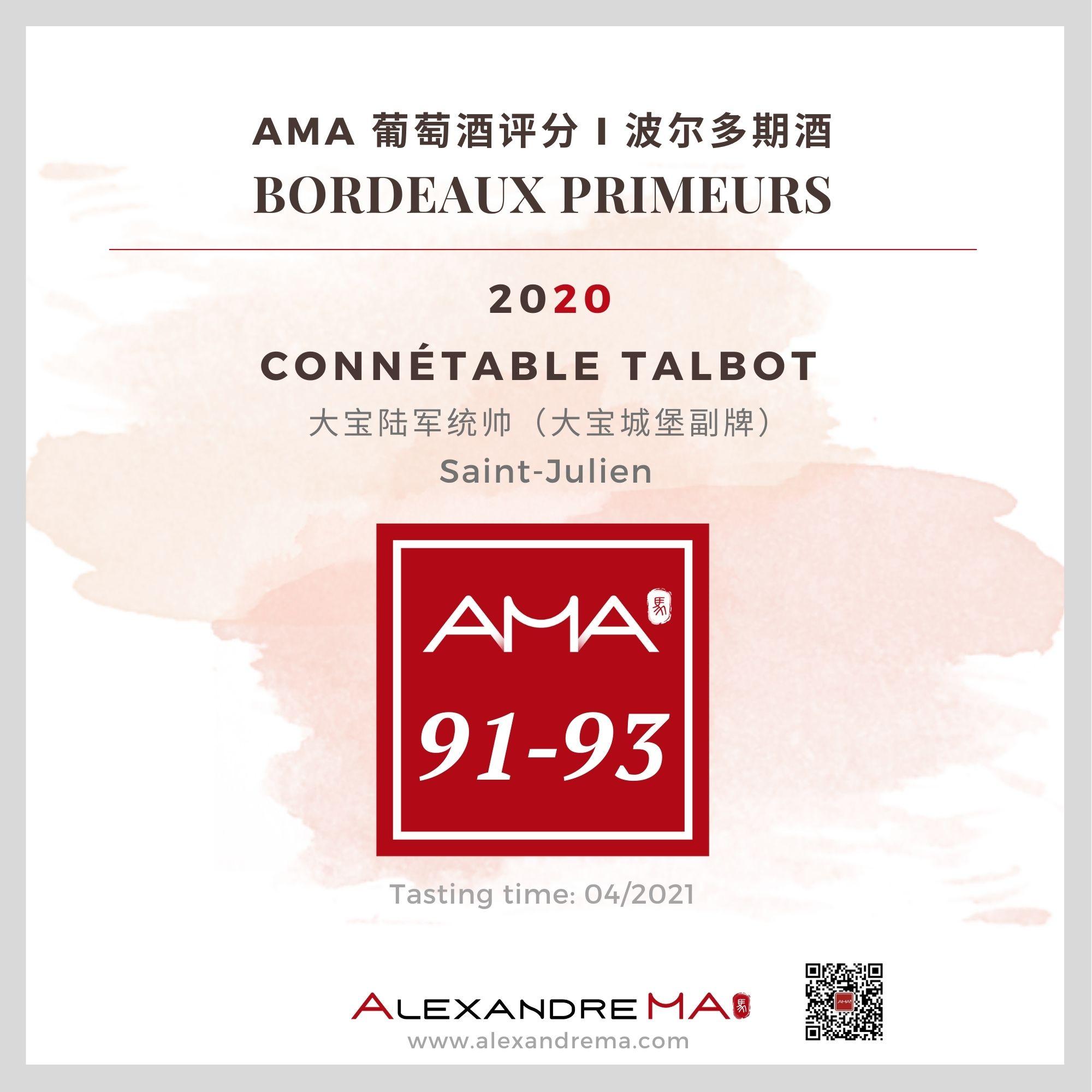 Château Talbot – Connétable Talbot – Red – 2020 – CN - Alexandre Ma