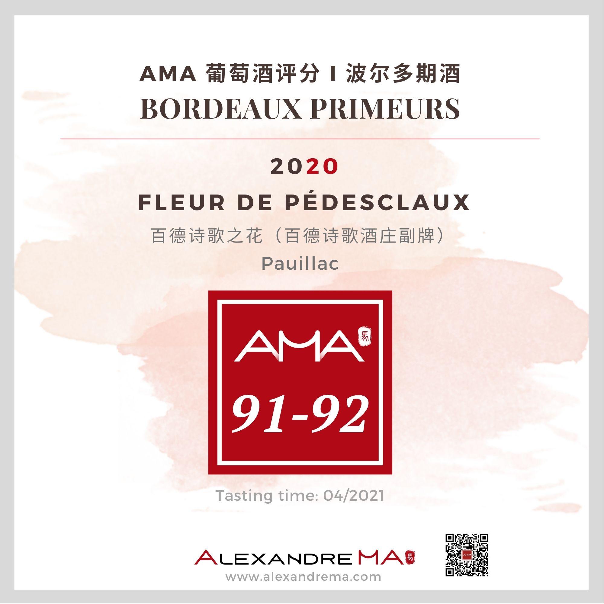 Château Pédesclaux – Fleur de Pédesclaux  2020 - Alexandre MA