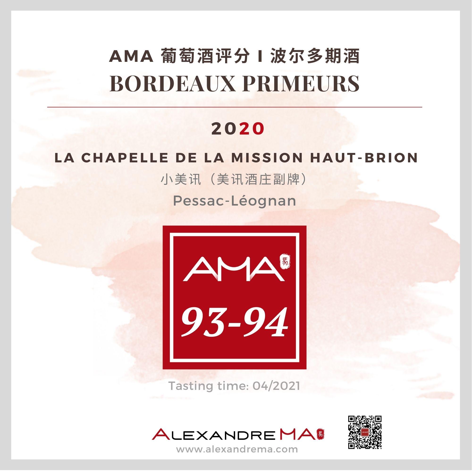 Château La Mission Haut-Brion – La Chapelle de la Mission Haut-Brion – Red – 2020 - Alexandre MA