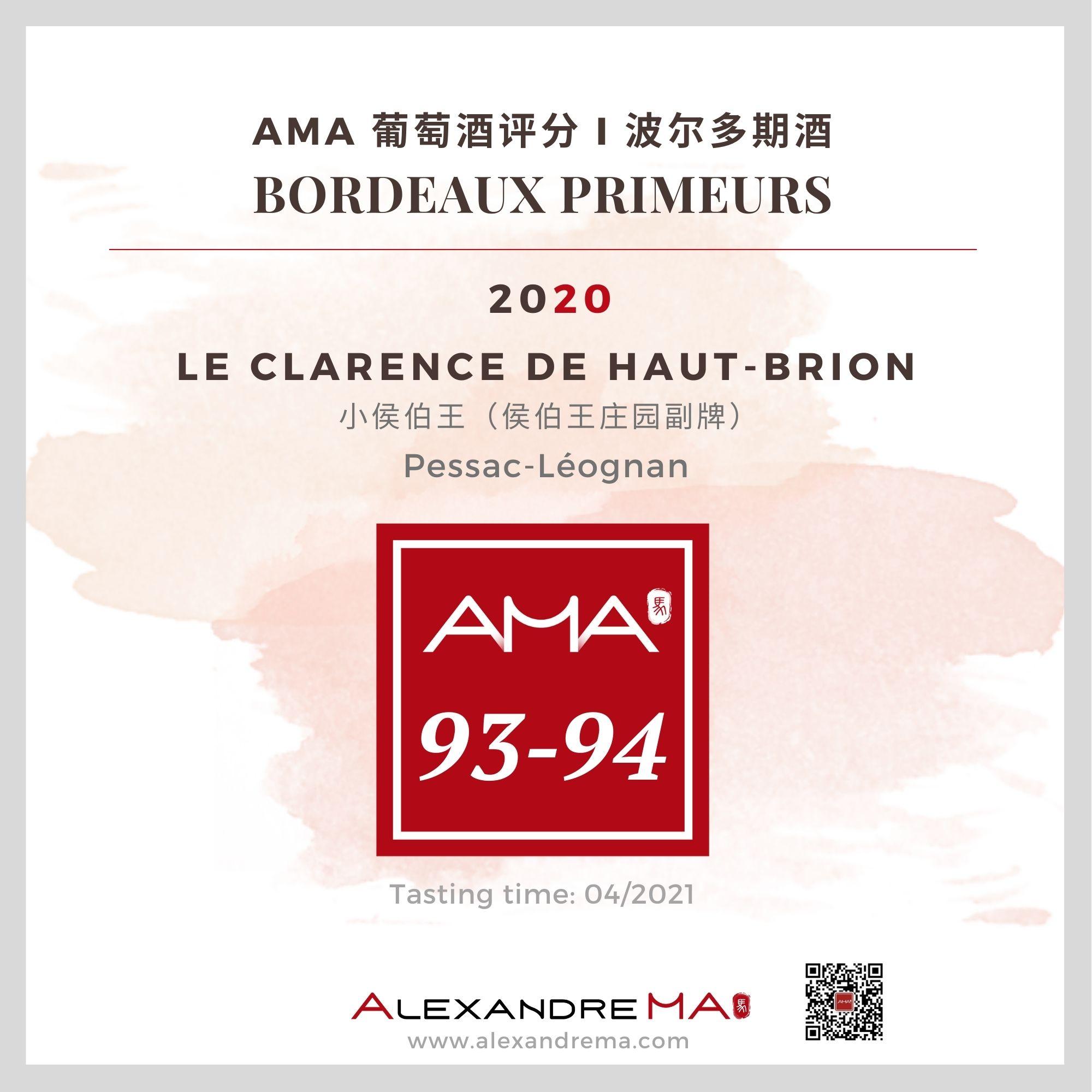 Château Haut Brion – Le Clarence de Haut-Brion – Red – 2020 – CN - Alexandre Ma