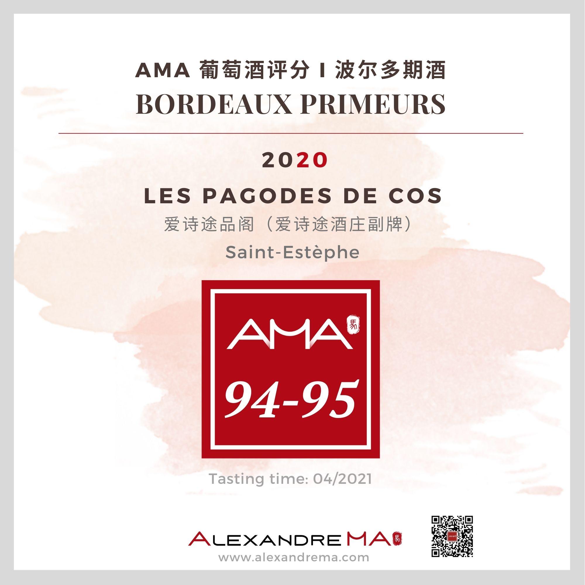 Château Cos d'Estournel – Les Pagodes de Cos – Red – 2020 - Alexandre MA