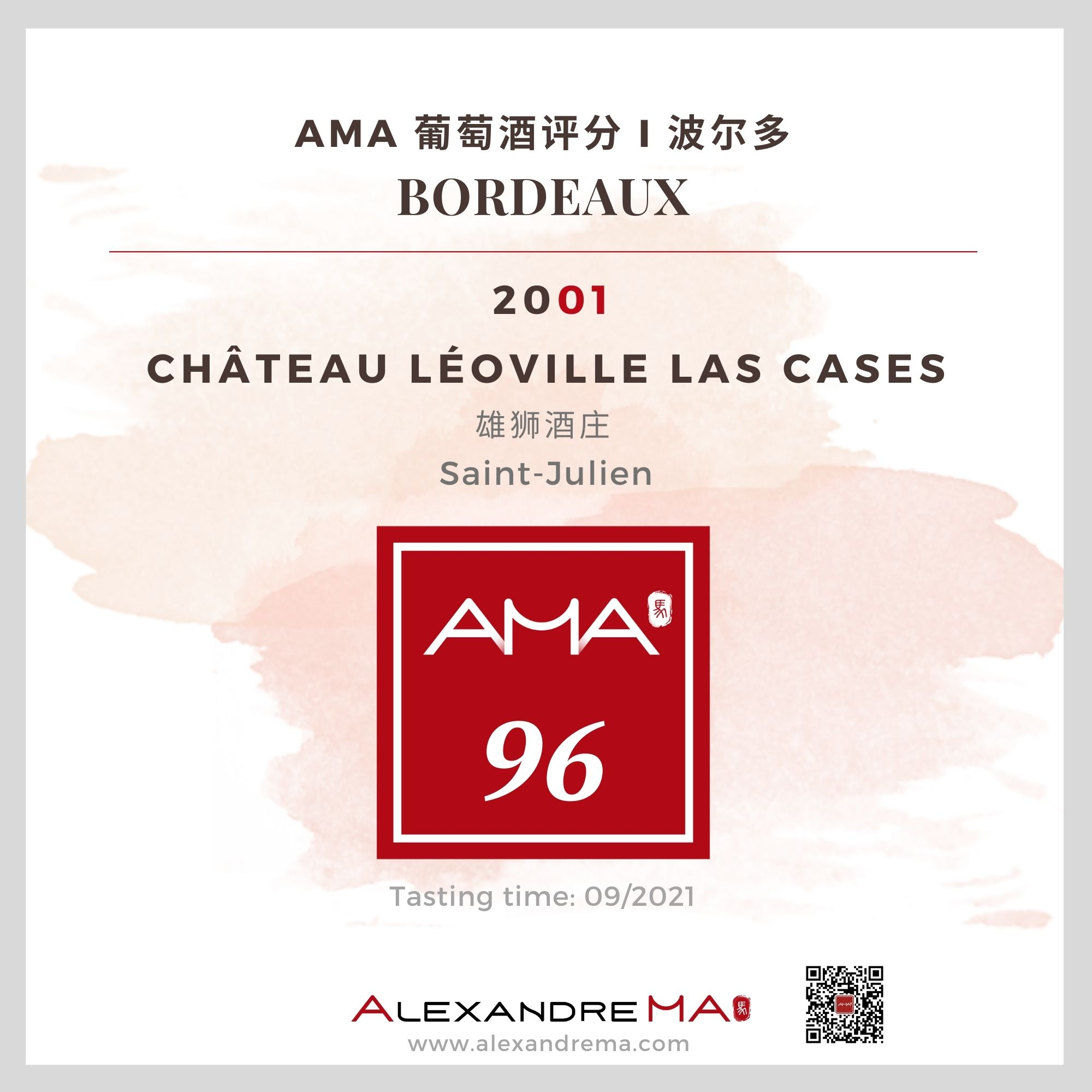 Château Léoville Las Cases – Red – 2001 – CN - Alexandre Ma