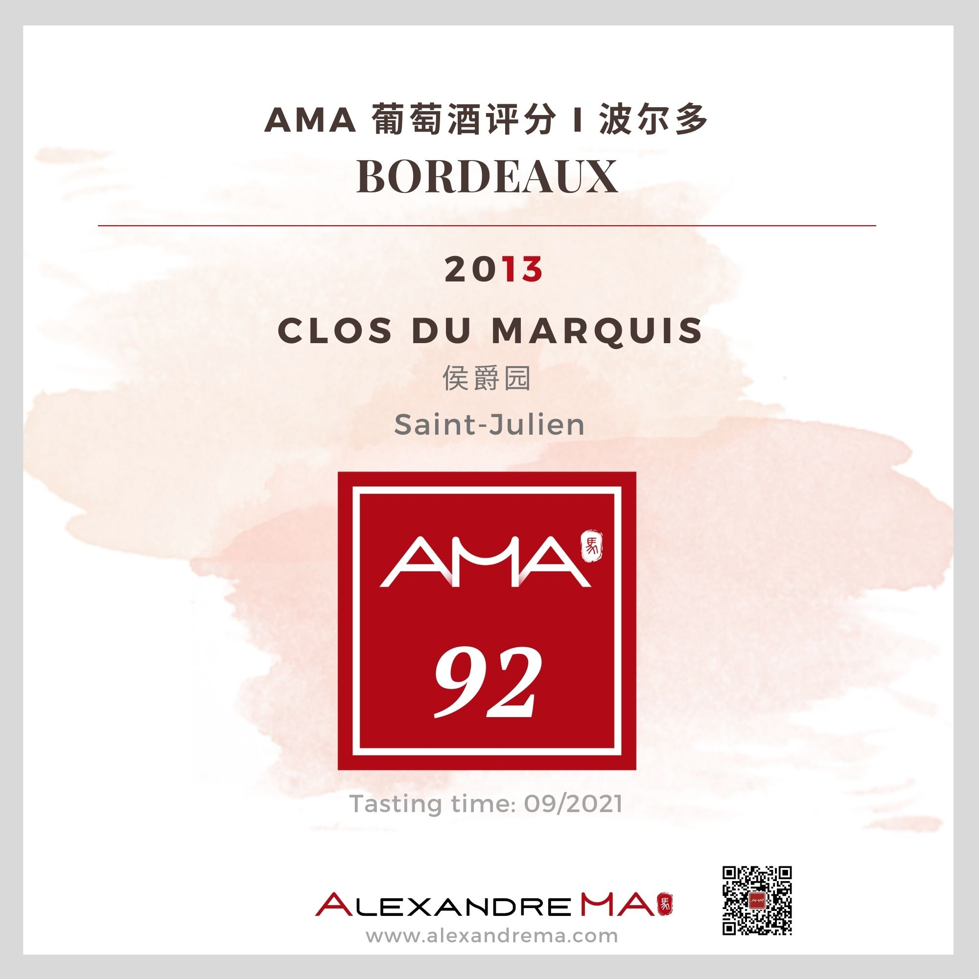 Clos du Marquis – Red – 2013 – CN - Alexandre Ma