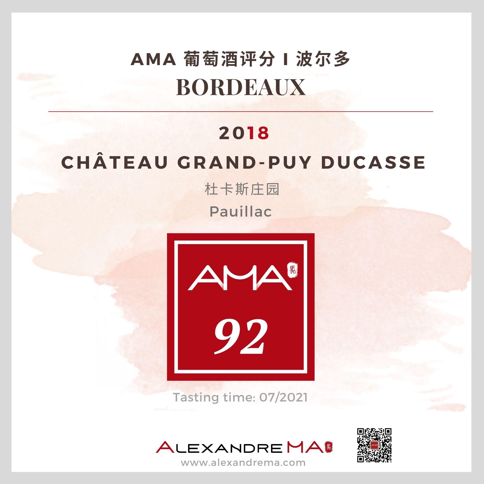 Château Grand-Puy Ducasse 2018 - Alexandre MA